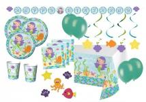 XXL 54 Teile Meerjungfrau Party Deko Set für 8 Personen