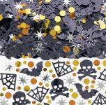 Halloween Konfetti Mix Fledermaus und Totenkopf