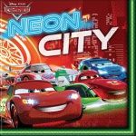 20 Servietten Cars Neon