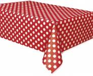 Tischdecke rote Punkte
