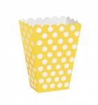 8 Popcorn Boxen Sonnenblumen Gelbe Pünktchen