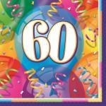 60. Geburtstag Party Servietten