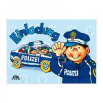 8 Einladungskarten Polizei