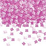 21. Geburtstag Konfetti Pink Rosa