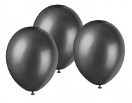50 Luftballons Metallic Schwarz