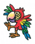 Mini Tattoo Papagei