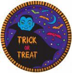 8 Halloween Teller Vampir + Fledermaus