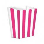 10 kleine Popcorn Boxen Pink Weiß gestreift