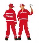 Feuerwehr Kostüm rot