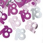 18. Geburtstag Deko Konfetti Pink