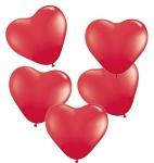 5 Herz Ballons Rot