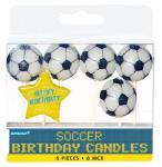 Fußball Party Kerzen
