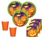 48 Teile Halloween Deko Set Kürbis Licht 16 Kinder