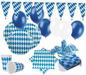 XXL 69 Teile Bavaria Party Deko Set Oktoberfest für 10 Personen - Dekorations Set