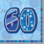 60. Geburtstag Servietten Blau