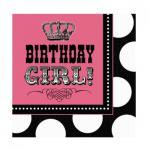 16 Rocker Girl Geburtstags Servietten