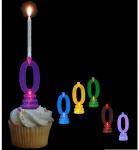 Blinkender Kerzenhalter in Form der Zahl 0