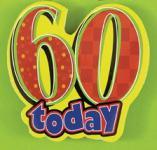 60. Geburtstag Anstecker