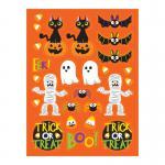 4 Bogen Halloween Sticker Grusel Freunde