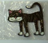 Schwarze Katze - Kool Cats - Glasuntersetzer