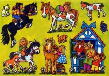 Fensterbild Pferde Stall