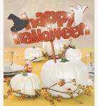 Happy Halloween leuchtender Kuchen Stecker