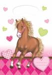 6 Pferde Party Tüten Pink Pony