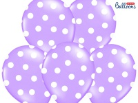 6 Luftballons Lavendel mit Punkten