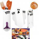 8 Halloween Besteck oder Süßigkeiten Taschen Geister
