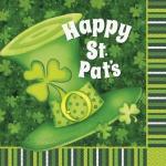16 Servietten St. Patricks Day grüner Hut