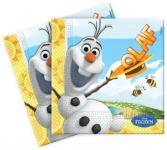 20 Servietten Frozen Eiskönigin Olaf im Sommer