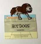 Hund - Hot Dog - Lesezeichen