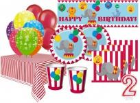 XXL 67 Teile 2. Geburtstag Zirkus Party Set 16 Personen
