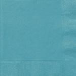 20 kleine Servietten Karibik Blau