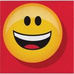 16 kleine Servietten Emoticons