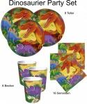 32 Teile Dinosaurier Party Deko Basis Set - für 8 Kinder