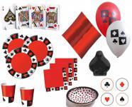 XXL 58 Teile Poker, Casino Motto Party Deko Set 8 Personen