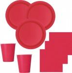 52 Teile Party Deko Set Rot für 16 Personen