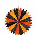 Dekofächer Schwarz Orange