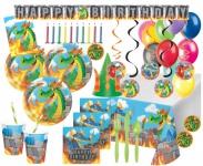 XXL 117 Teile Feuer Drachen Geburtstags Party Deko Set 8 Personen