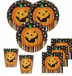 48 Teile Halloween Deko Set Lachender Kürbis 16 Personen