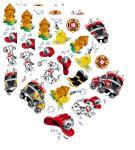 Feuerwehr Sticker 4 Bogen