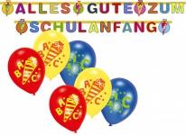 Girlande + 6 Luftballons zum Schulanfang