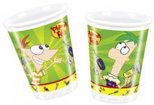 10 Phineas und Ferb Party Becher