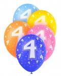 5 Geburtstags Luftballons mit der Zahl 4
