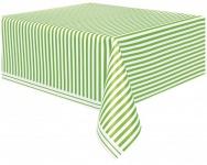Tischdecke hellgrüne Streifen