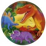 8 Dinosaurier Papp Teller