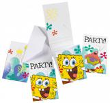 6 Spongebob Einladungskarten