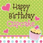 16 Muffin Party Geburtstags Servietten