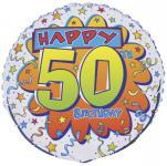 Geburtstags Folien Ballon zum 50.